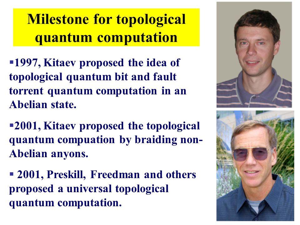 Milestone for topological quantum computation
