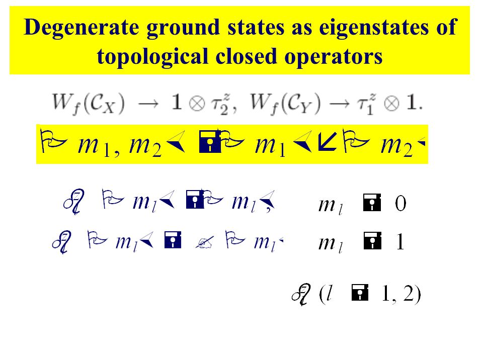 Degenerate ground states as eigenstates of topological closed operators