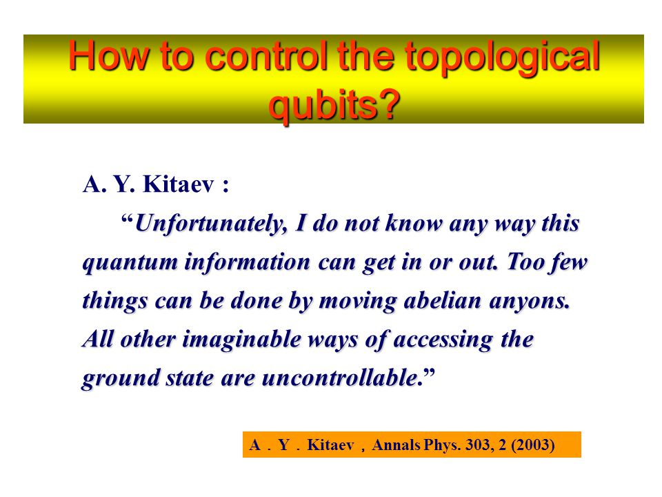 How to control the topological qubits