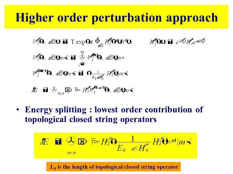 Higher order perturbation approach