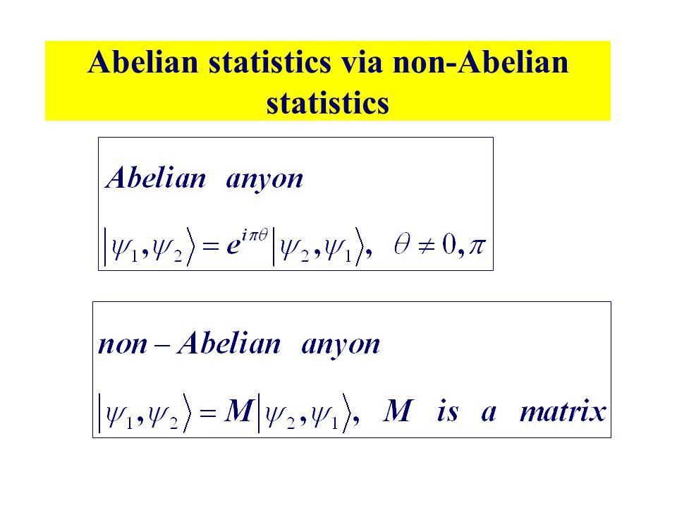 Abelian statistics via non-Abelian statistics