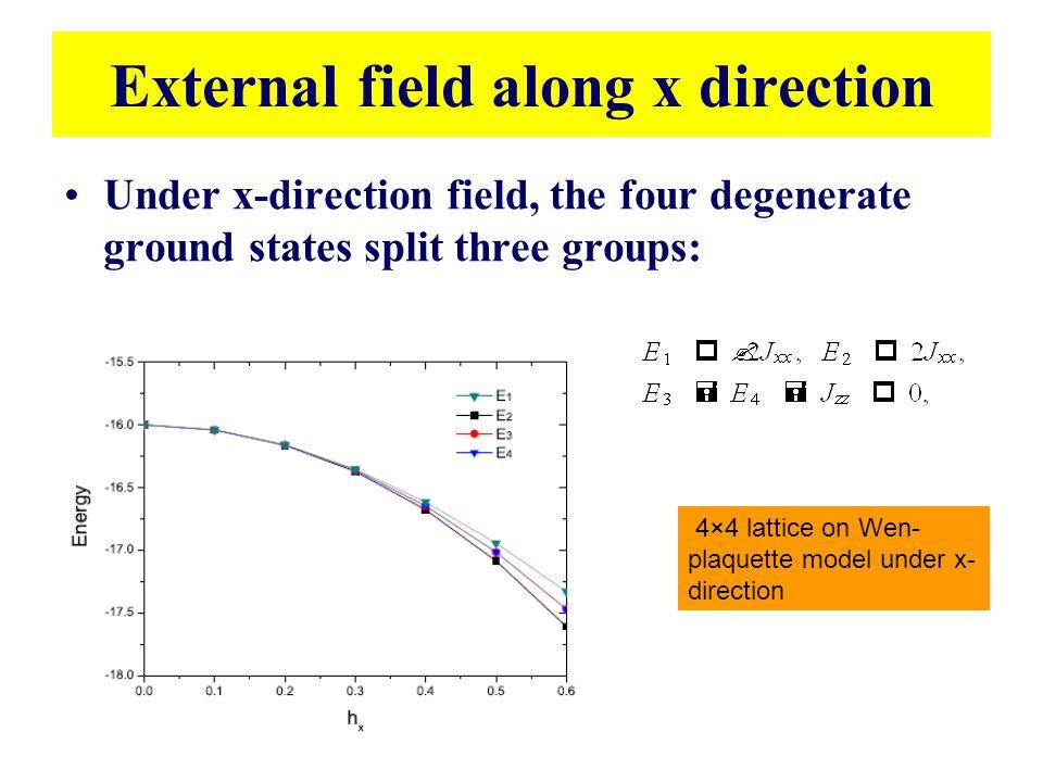 External field along x direction