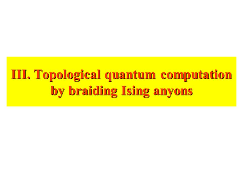 III. Topological quantum computation by braiding Ising anyons