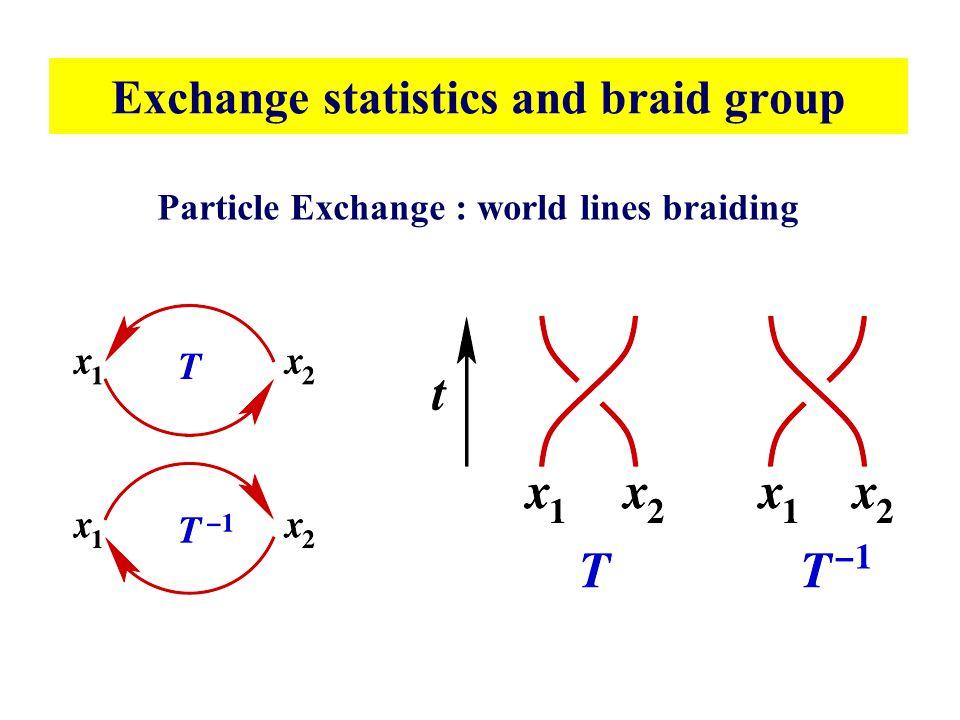 Exchange statistics and braid group