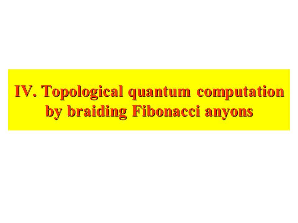 IV. Topological quantum computation by braiding Fibonacci anyons