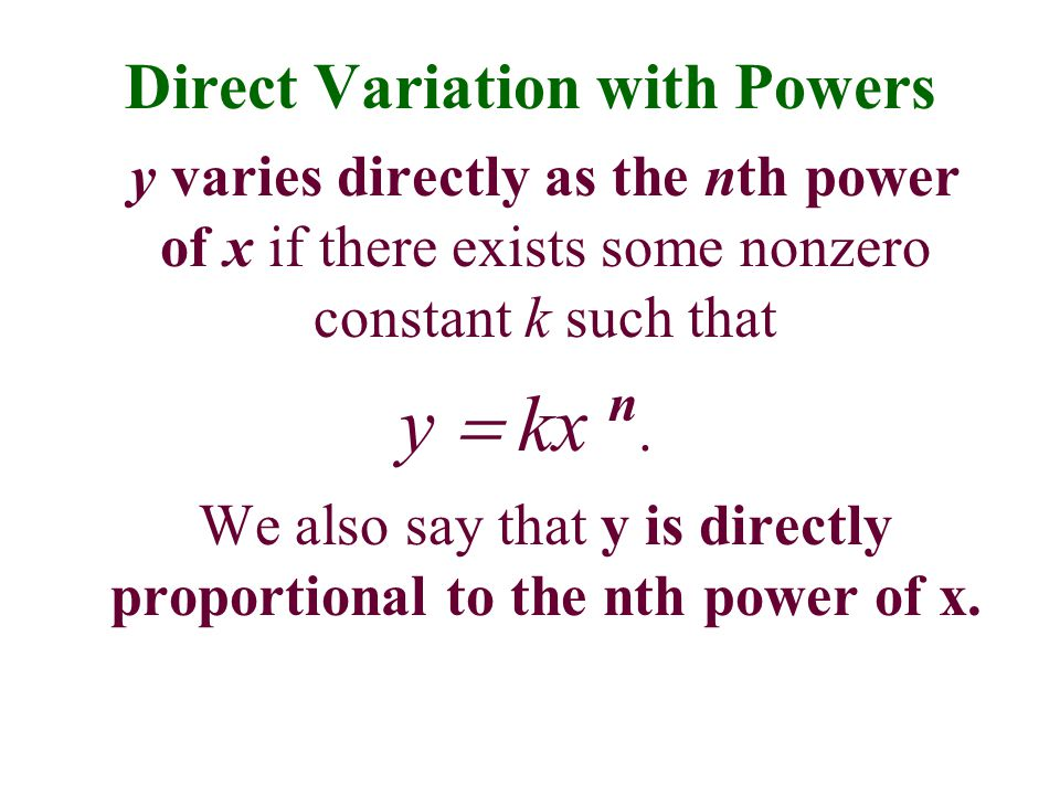 Direct Variation with Powers