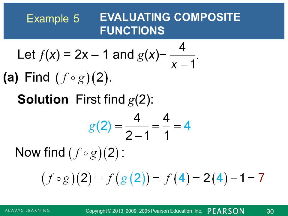 Solution First find g(2):