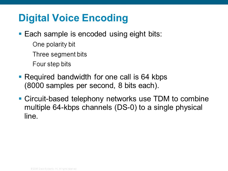 Digital Voice Encoding