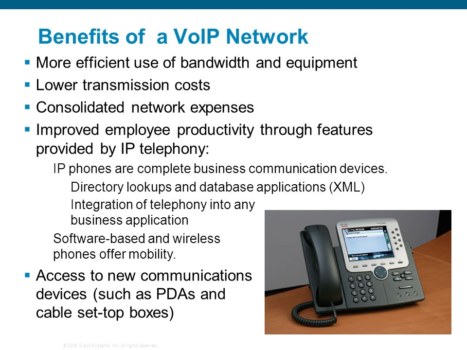 Benefits of a VoIP Network