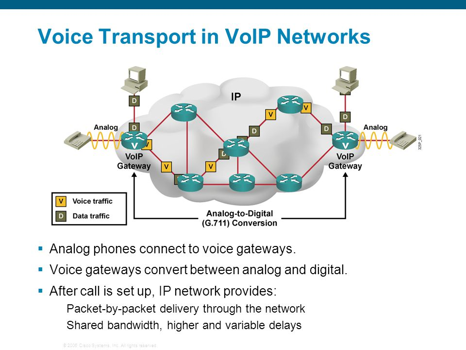 Voice Transport in VoIP Networks