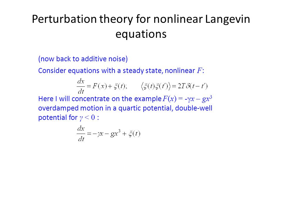 Perturbation theory for nonlinear Langevin equations
