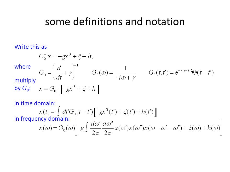 some definitions and notation