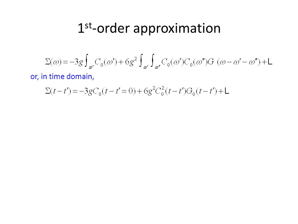 1st-order approximation