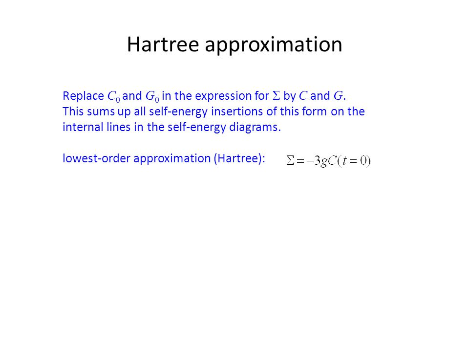 Hartree approximation