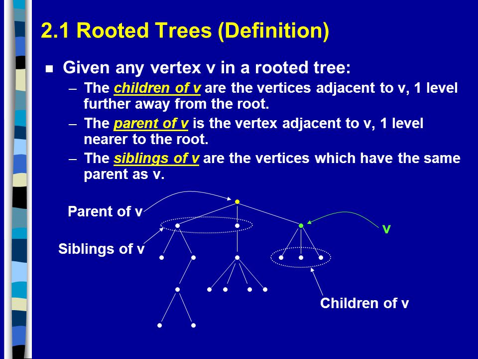 2.1 Rooted Trees (Definition)