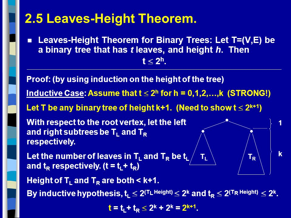 2.5 Leaves-Height Theorem.
