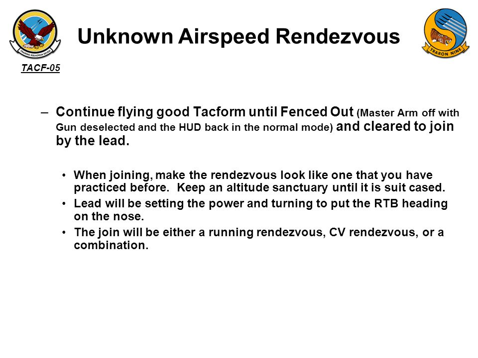 Unknown Airspeed Rendezvous