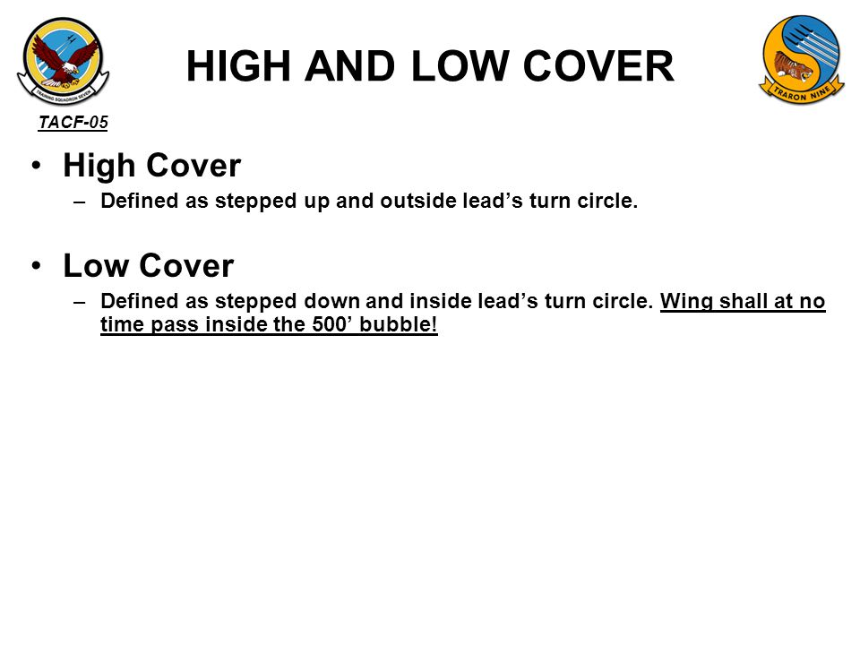 HIGH AND LOW COVER High Cover Low Cover