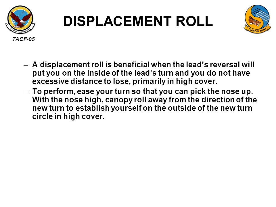 DISPLACEMENT ROLL