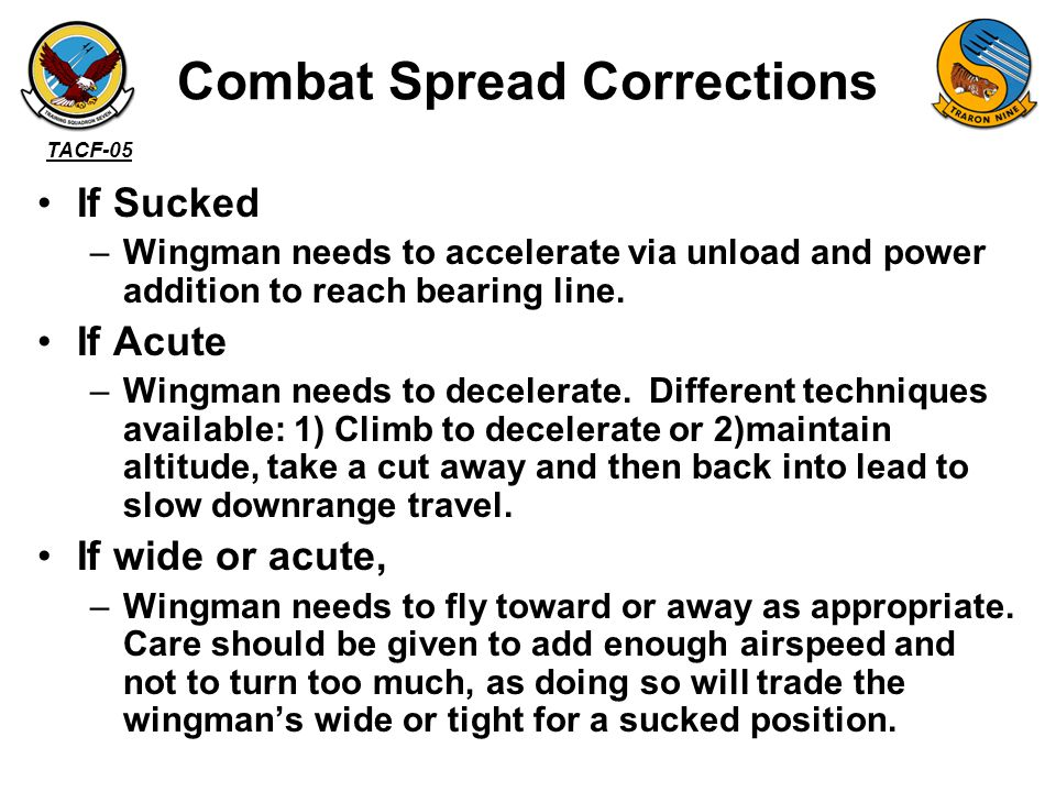 Combat Spread Corrections
