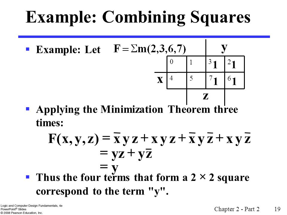 Example: Combining Squares