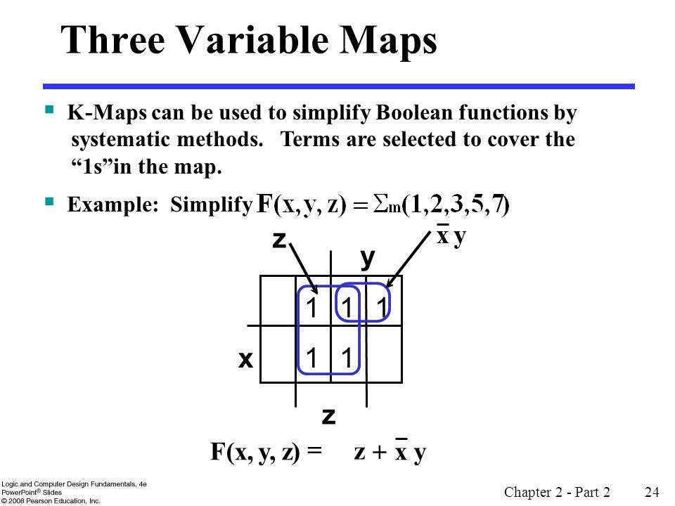 Three Variable Maps y 1 x z z y x + F(x, y, z) =