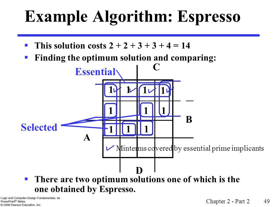 Example Algorithm: Espresso