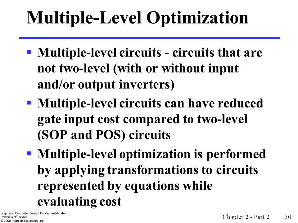 Multiple-Level Optimization