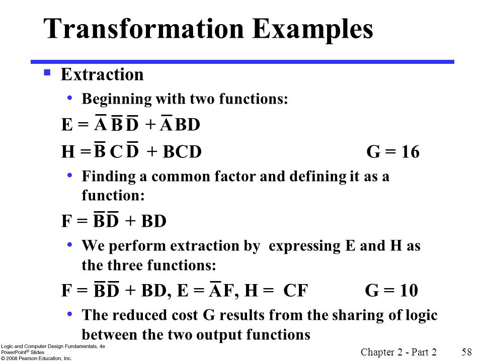 Transformation Examples