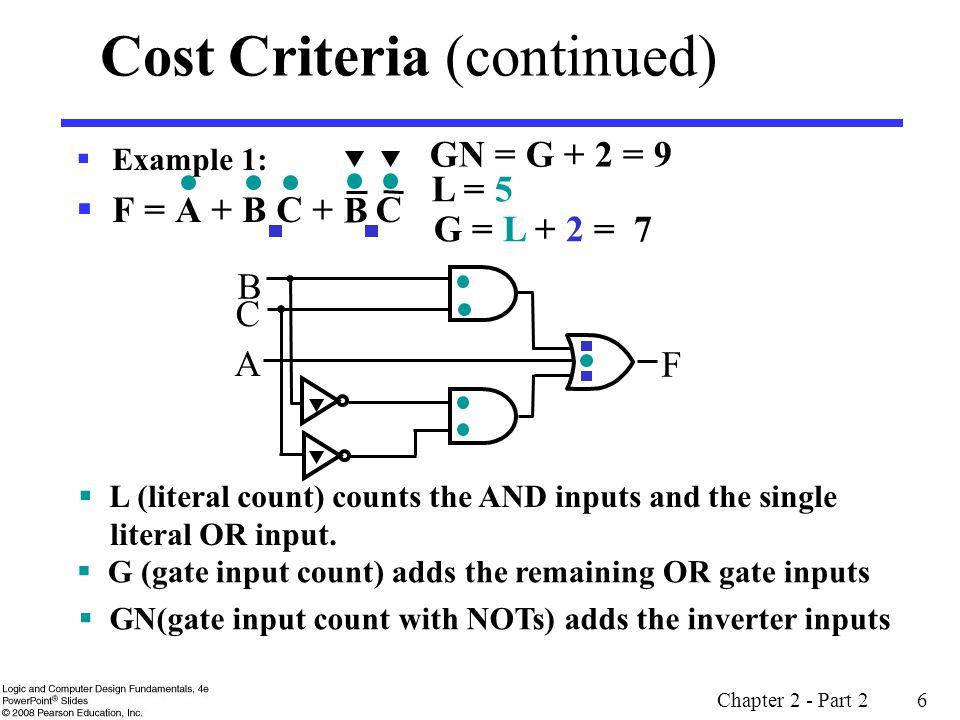 Cost Criteria (continued)