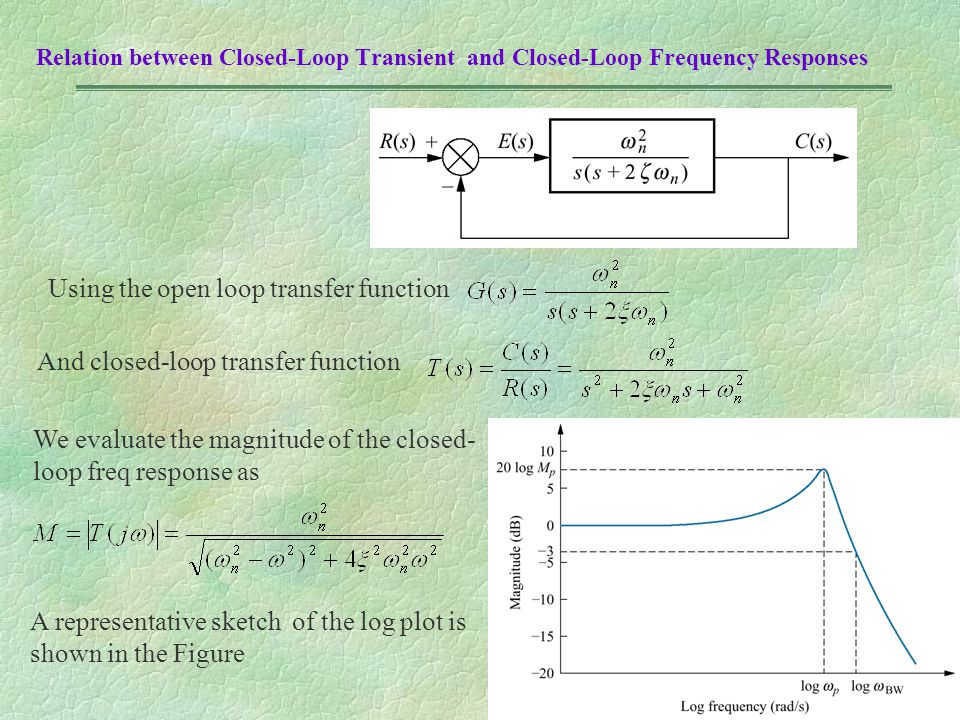 Using the open loop transfer function