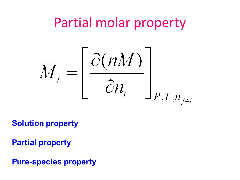 Partial molar property
