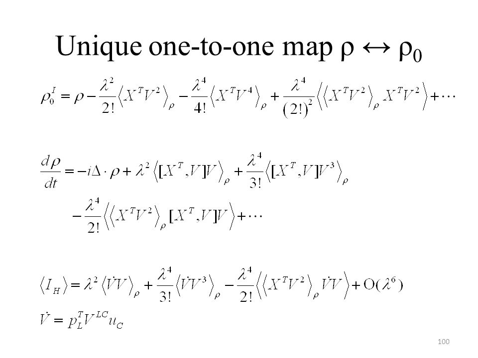 Unique one-to-one map ρ ↔ ρ0