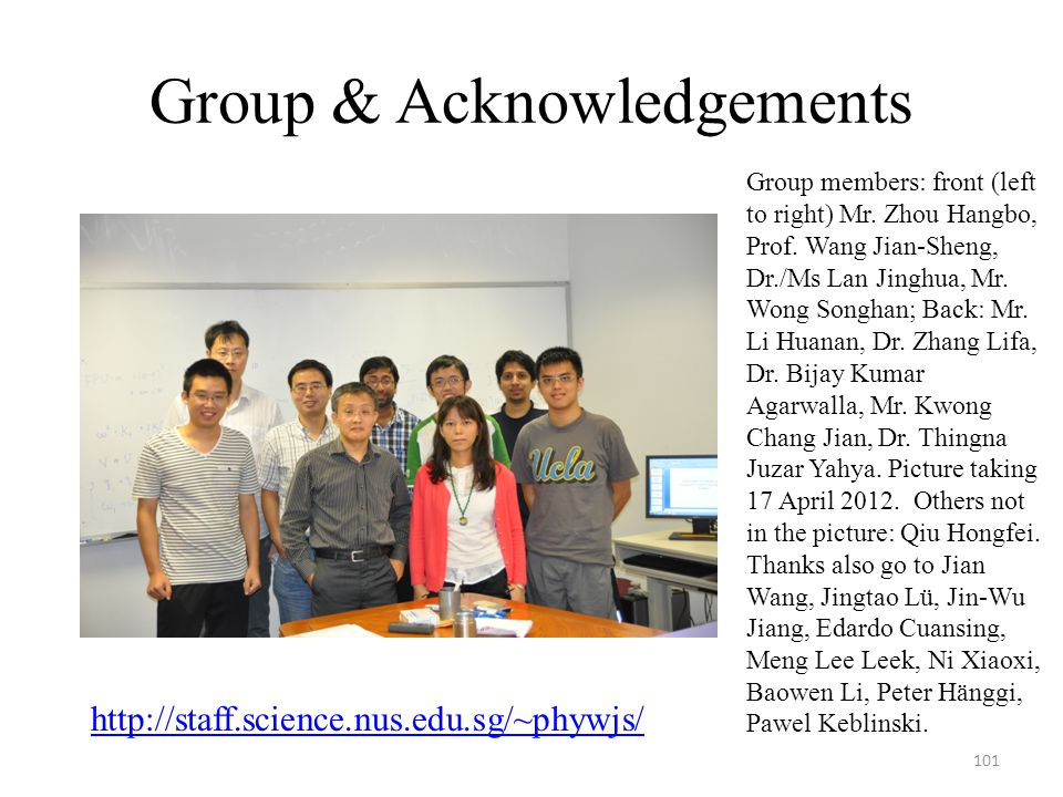 Group & Acknowledgements