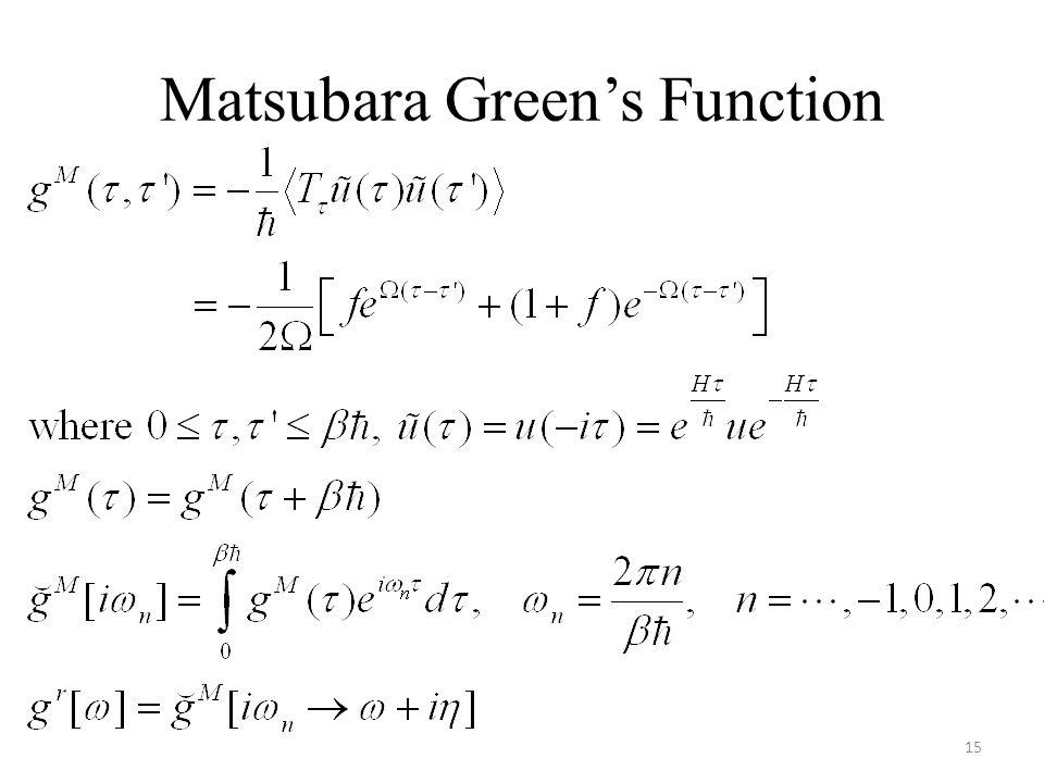 Matsubara Green's Function