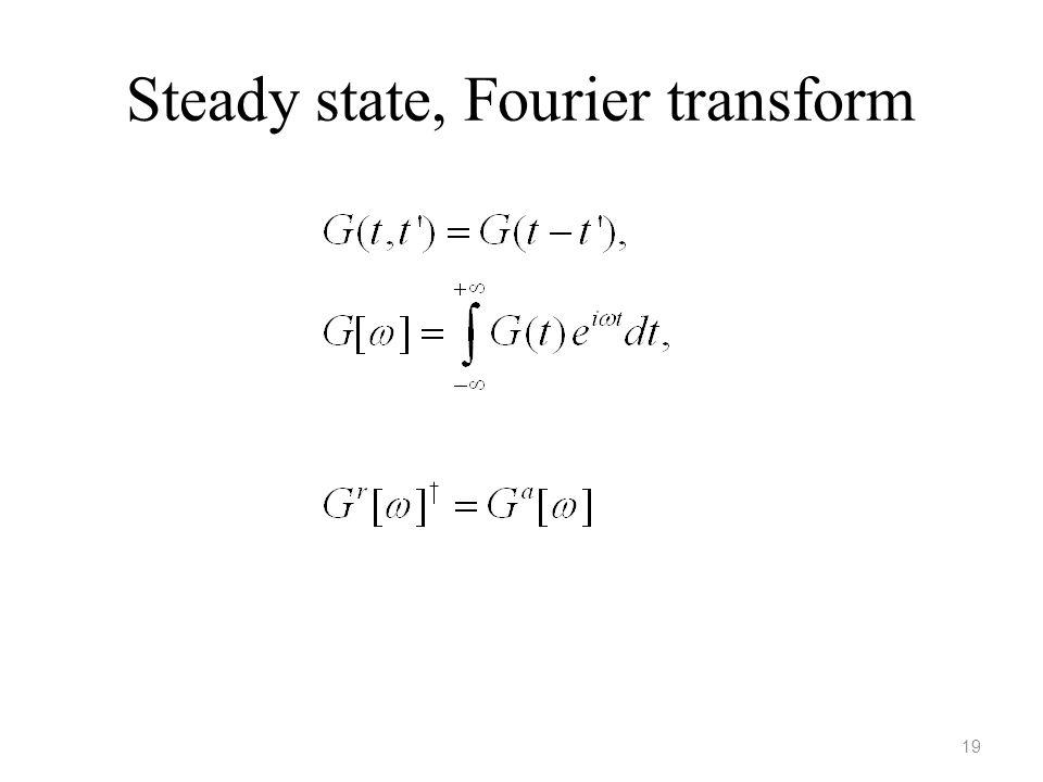 Steady state, Fourier transform