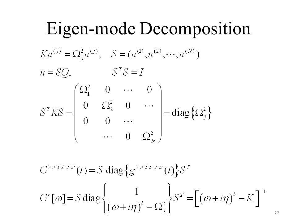 Eigen-mode Decomposition