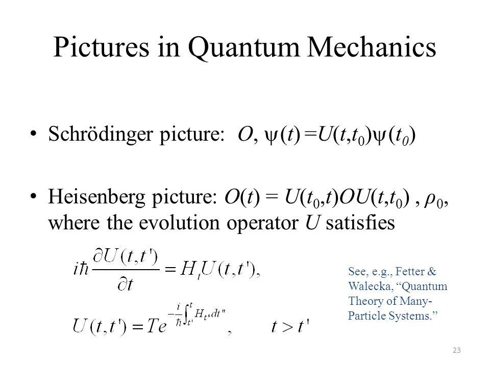 Pictures in Quantum Mechanics