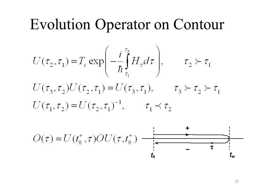 Evolution Operator on Contour