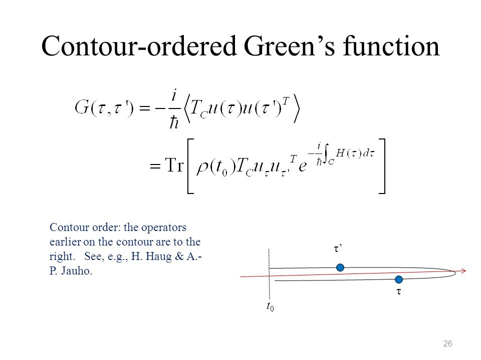 Contour-ordered Green's function