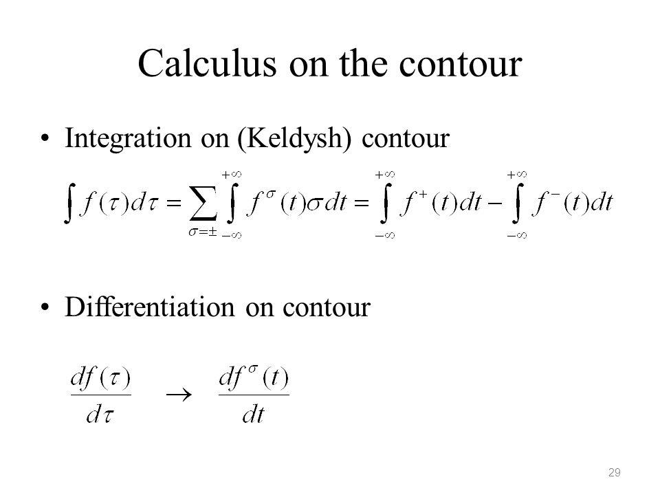Calculus on the contour