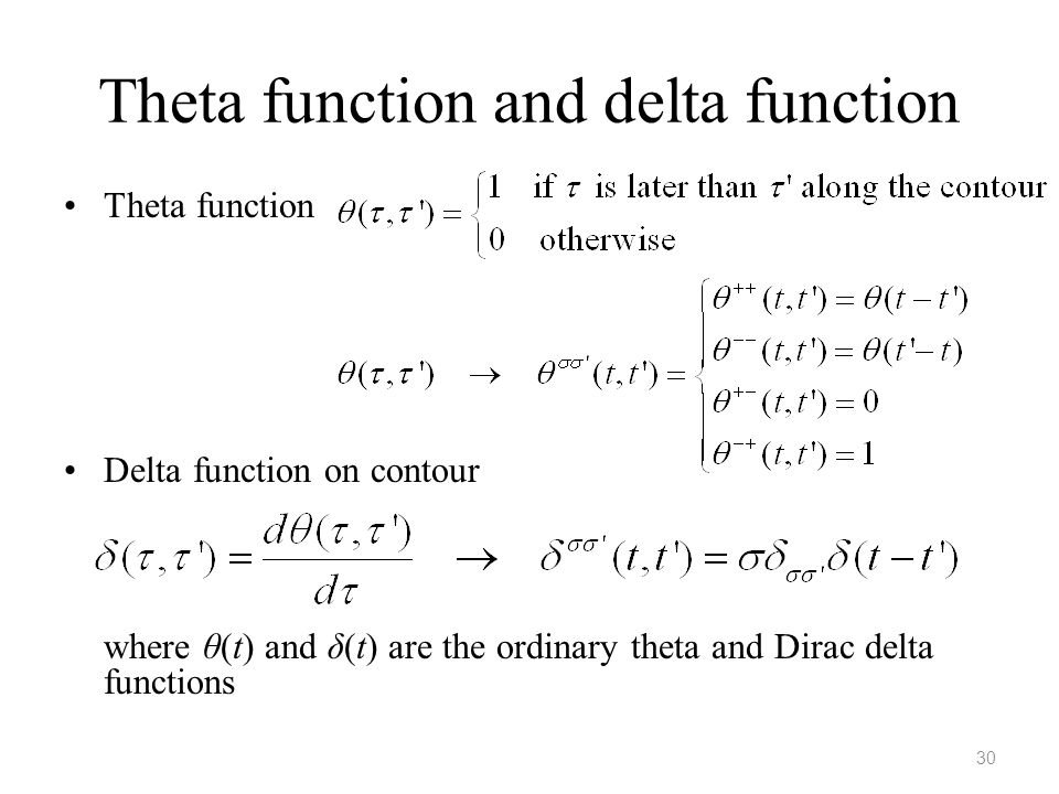 Theta function and delta function