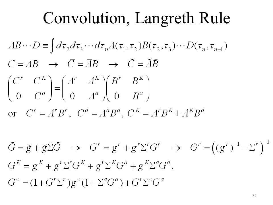 Convolution, Langreth Rule