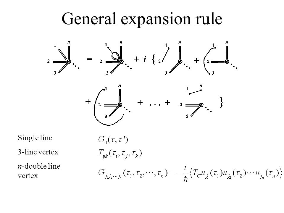 General expansion rule