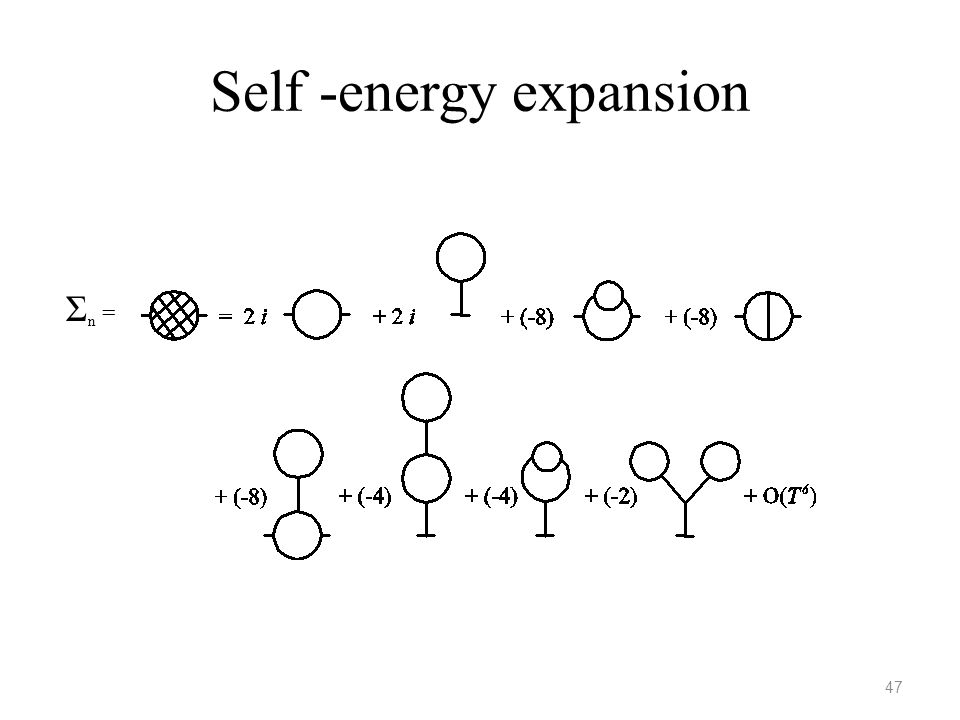 Self -energy expansion