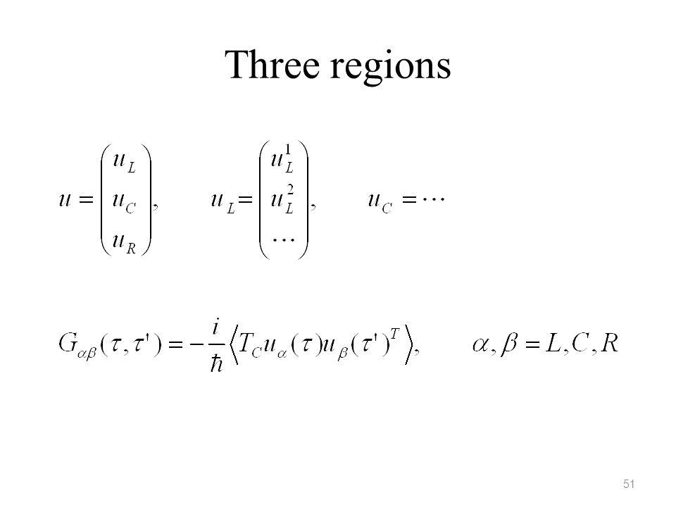 Three regions 51 51