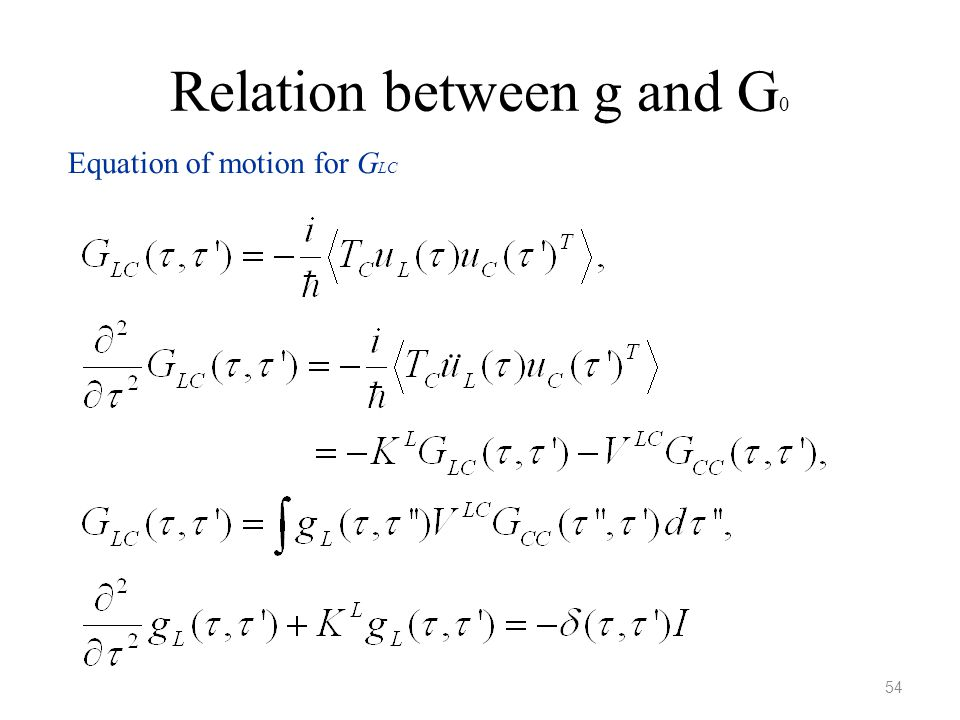 Relation between g and G0