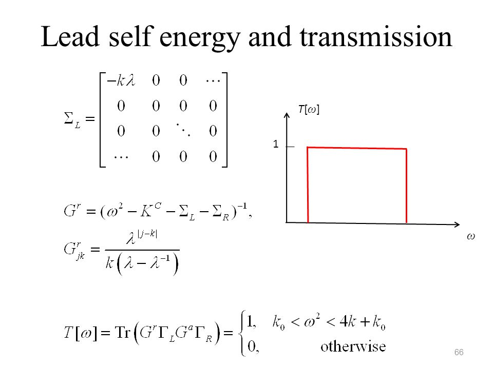 Lead self energy and transmission