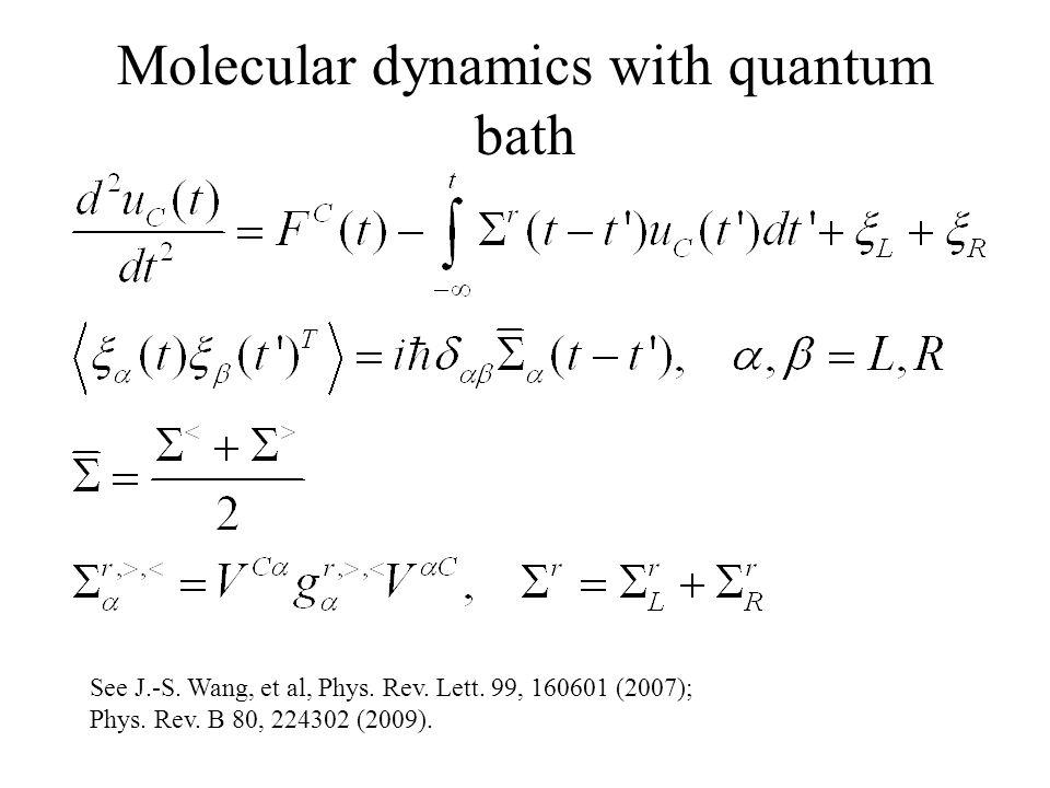 Molecular dynamics with quantum bath