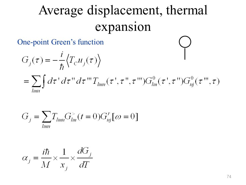 Average displacement, thermal expansion